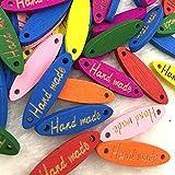 Bigbarry Vistoso 50 unids Oval Hecho a Mano Botón de Madera Accesorios de Costura Decoración Botones Hecho a Mano Scrapbooking Craft DIY Exquisito (Color : Color 1)