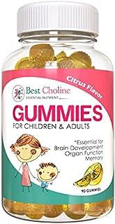 BestCholine | Choline Bitartrate 100mg per Gummy | 90 Choline Gummies | Prenatal Infant Brain Development | Creates Acetylcholine, a Neurotransmitter | Nootropic Improves Cognitive Function