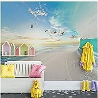 Xbwy 装飾壁画壁紙現代ステレオ海空風景壁画壁紙リビングルーム寝室の背景壁家の装飾-120X100Cm