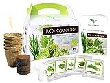 BIO Kräuter Box CLASSIC - Anzuchtset - 5 Sorten BIO Samen - zum Selberzüchten oder zum Verschenken...