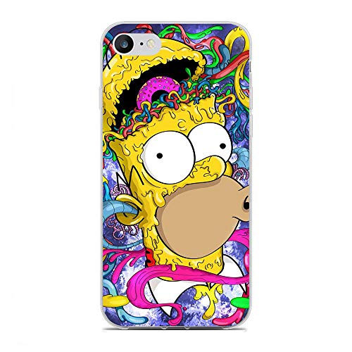 K-Kickim Case for Apple iPhone 6/6s-Simpsons-Funny Cartoon 6 Clear Phone Case Coque Silikon Rubber