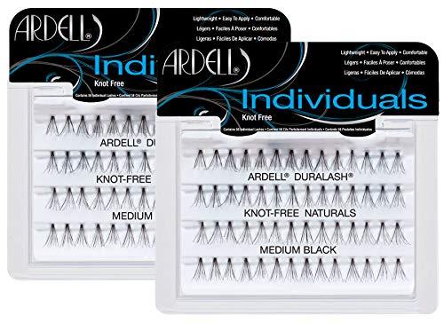 Ardell Individuals Medium, das Original (Knot Free) black, wiederverwendbare Einzelwimpern für...