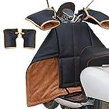 Cubierta de la Pierna for Scooters Lluvia Viento Protector frío Rodilla Motocicleta Manta de la Rodilla Cubierta de la Pierna Cubierta de la Pierna acolcha con Mangas de Mango (Color : S)
