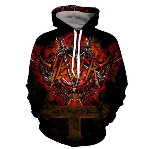 Hoodies für Männer 3D-Print Herren Kapuzenpullover Pullover Hip Hop Rock Hoodies Streetwear 3 4XL