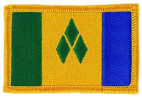 Patch Aufnäher bestickt Flagge Saint Vincent & die Grenadinen SVG zum Aufbügeln