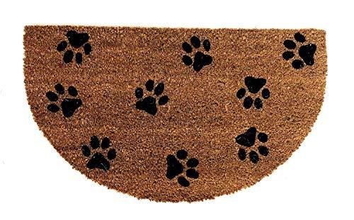 De'Carpet Felpudo Coco Media Luna Original Moderno Económico Huella Mascota