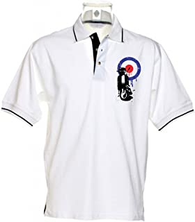 Tribal T-Shirts Men`s Mod Target Scooter Tipped Polo T-Shirt