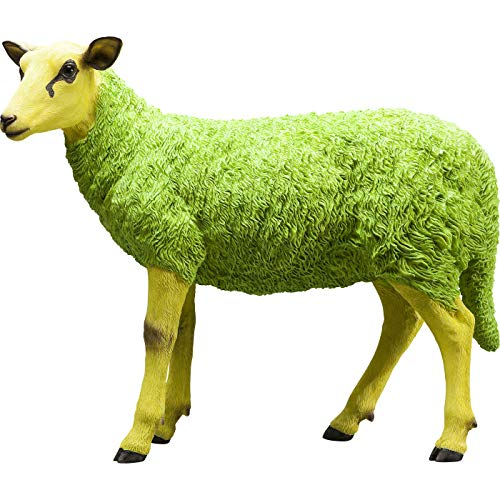 Kare Deko Figur Sheep Colore Green, Kunststoff Polyresin, Grün