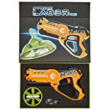 Strike Laser Tag Blaster Gun & Flying UFO Drone Deluxe Box Set - Infrared Toy Lazer Set For Kids