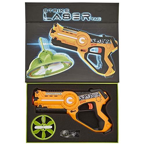 Strike Laser Tag Blaster Gun & Flying UFO Drone Deluxe Box...