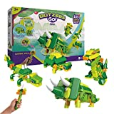 BOTZEES GO! Dinosaur Toys, Dinosaur Robots for Kids, Building & Electric Remote Control Toys, STEM...