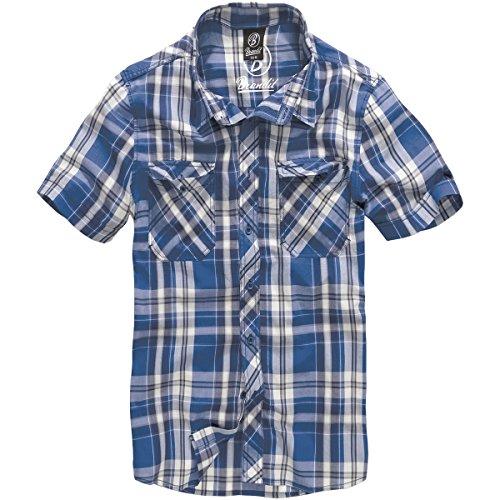 Brandit Herren Roadstar Shirt Hemd, Blau/Weiß, 5XL