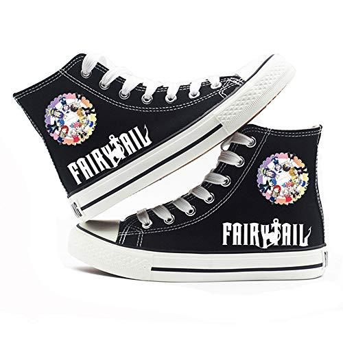 NLJ-lug Fairy Tail Cosplay Moda Casual Graffiti Alta Ayuda Zapatos Personalidad Hip Hop...