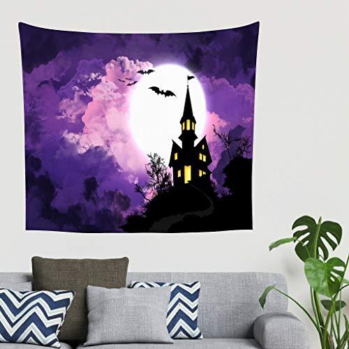 O2ECH-8 Bat House Theme Tapijt, veelzijdig, Happy Halloween patroon voor de slaapkamer