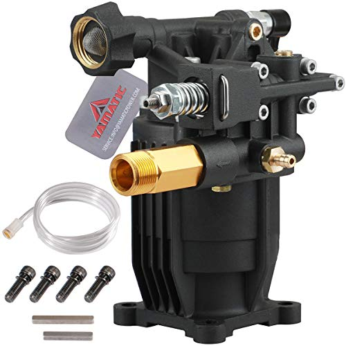 "YAMATIC Max 3200 PSI 2.5 GPM New Horizontal Pressure Washer Pump 3/4"" Shaft OEM & Replacement Pump for Power Washer"