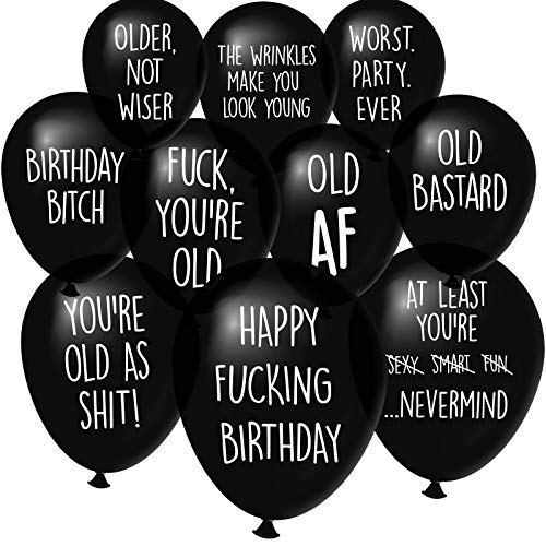 Old Age Birthday Party Balloons