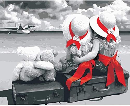 Legpuzzels 1000 tabletten Meisje met twee rode handdoeken op grijs Adolescent Intellectueel Educatief Spel Stress Reliever Verjaardagscadeau Speelgoed Gepersonaliseerde Moderne Kunstdecoratie 70x50cm