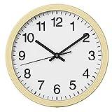 NUOVO Orologio da parete rotondo in legno chiaro da 26 cm, silenzioso e senza ticchettio, orologio da parete retrò per soggiorno, camera da letto, cucina (26 cm)