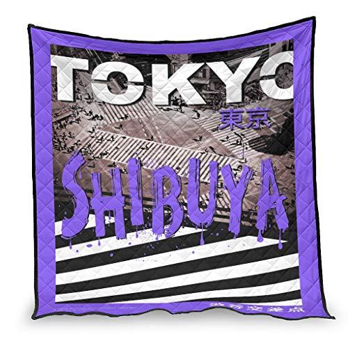 IOVEQG Tokyo Shi-buya Tagesdecke, sehr weich, leicht, für alle Jahreszeiten, Weiß, 130 x 150 cm