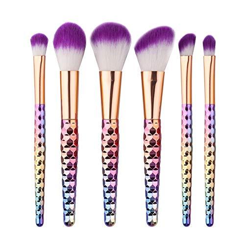 Sets de pinceaux de Maquillage 6 Forme de nid d'abeille Or Rose Pinceau de Maquillage coloré Set Outils de beauté 6 Pinceau de Maquillage Set Brosse de beauté Portable Brosse de Maquillage