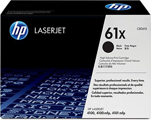 HP 61X (C8061X) Schwarz Original Toner mit hoher Reichweite für HP Laserjet 4100