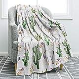 Jekeno Llama Alpaca Throw Blanket Cute Soft Blanket for Sofa Chair Bed Office Travelling Camping 50'x60'