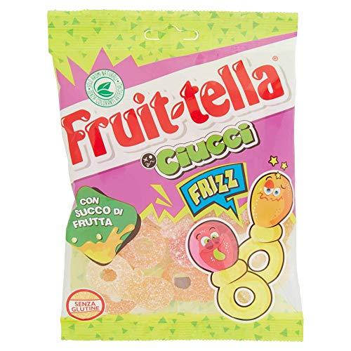 Fruittella Ciucci Frizz Caramelle Gommose, Gusto Frutti Assortiti con Succo di Frutta, Senza Glutine, Formato Busta da 175 gr