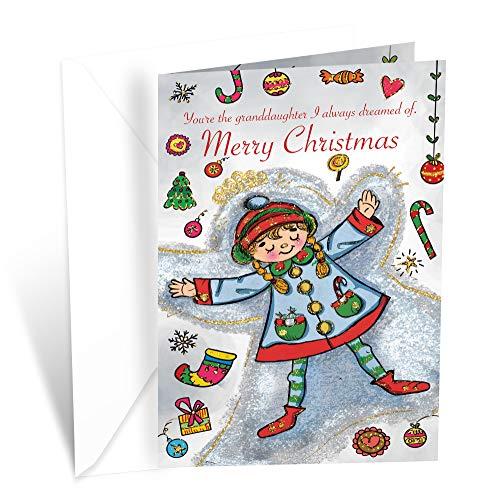 Prime Greetings Christmas Card Granddaughter