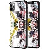 iPhone各機種対応 機動戦士ガンダム 背面ガラス TPUバンパーケース (iPhone12 Pro Max, LEDで光る!RX-0 ユニコーンガンダム) [並行輸入品]
