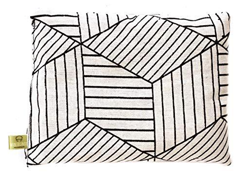 Miniblings Hierba de Almohada Almohada frías a Base de Hierbas 23x17cm geometría Blanca