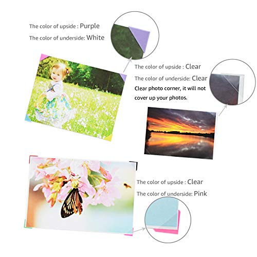 VIPbuy 2244 Count (22 Colors Assorted) Photo Mounting Corner Stickers Self Adhesive for Scrapbooking Photo Album Diary DIY Craft, 22 Sheets