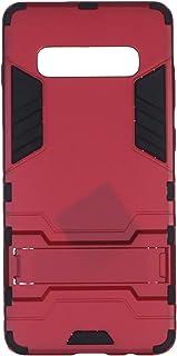 جراب خلفي رفيع بستاند لموبايل سامسونج جالاكسي S10 بلس من ايرون مان - احمر واسود