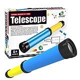 Yamix Kids Telescope DIY Assemble Toy Set STEM Educational Toy Science Kit for Kids Boys Girls