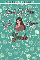Just A Girl Who Loves Data Set 48 Gift Women Notebook Planner: College,Finance,Homeschool,Appointment,Bill,To Do List,Passion,6x9 in ,Work List,Management,Teacher,Book,Gift