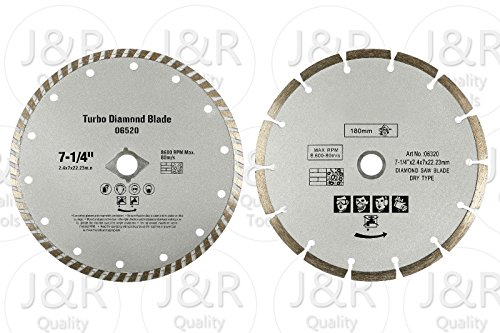2 Pack Diamond 7-1/4' Saw Blades Fits Bosch Circular Saw