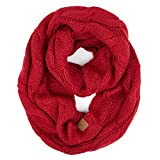 C.C Exclusives Multi Color Cable Knit Infinity Scarf (SF-800) (Red)