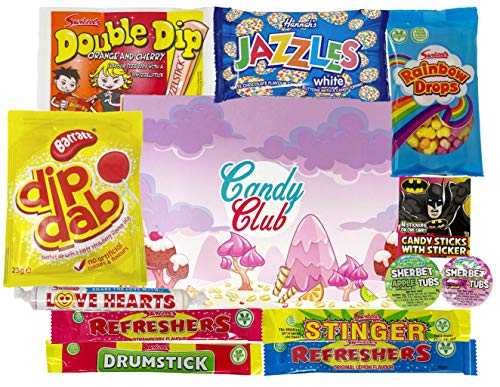 Retro Sweets Hamper Gift Selection Box. Packed with Retro Sweet Classics. Perfect Present for Birthday Days, Christmas ...
