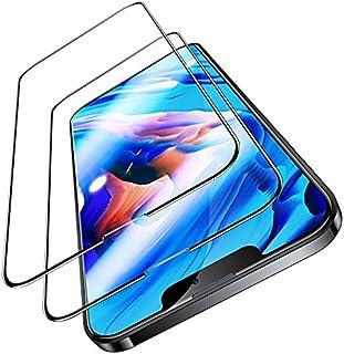 TORRAS 全面保護 iPhone 13 mini 用ガラスフィルム 5.4インチ 強化極細黒縁 9H越え サラサラ手触り ガイド枠付き 2枚セット アイフォン13 ミニ 用フィルム