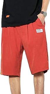 Macondoo Men Straight Short Trousers Utility Plus Size Summer Drawstring Shorts