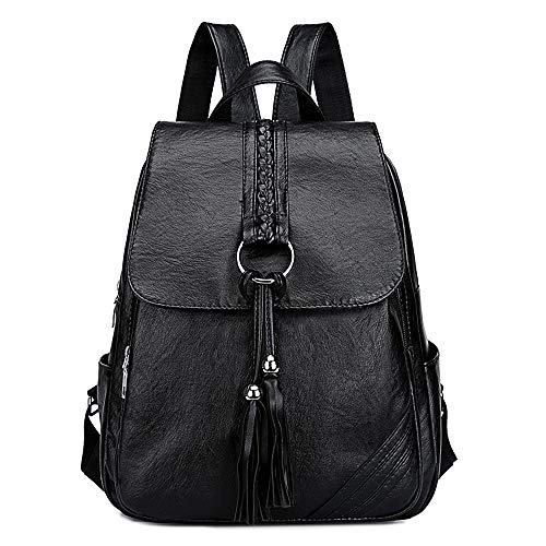 TIBES Women Backpack Small Casual Daypack Purse Waterproof PU Leather Shoulder Bag