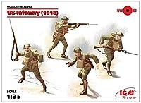 ICM 1/35 アメリカ陸軍 アメリカ歩兵 1918 プラモデル 35693