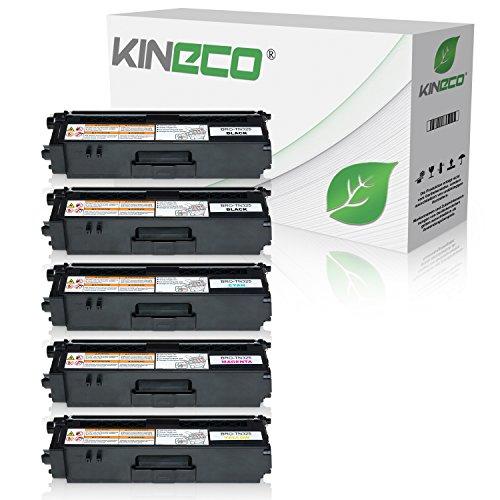 Kineco 5 Toner kompatibel für Brother TN-325 für Brother HL-4140CN, DCP-9055CDN, DCP-9270, HL-4150, HL-4570, MFC-9460CDW, MFC-9970, MFC-9560 - Schwarz je 4.000 Seiten, Color je 3.500 Seiten