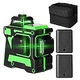 Kecheer Nivel láser autonivelante verde,Nivelador Láser 12 líneas 3D,Niveles láser 360 horizontales verticales