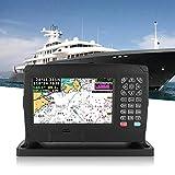Navigation GPS pour Bateau, Navigateur Marin Multifonction à écran Couleur 7 Pouces XF-607 200 Routes et 10000 waypoints Localisateur de Navigation GPS avec Carte, Haute luminosité/Grand Angle