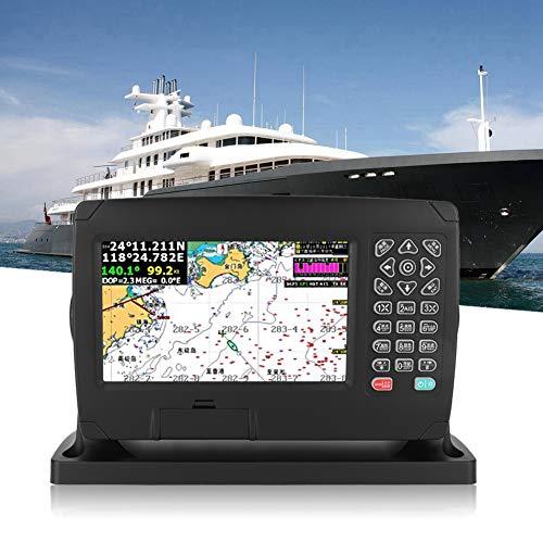 Navigateur Marin, XF-607 Écran Couleur 7 Pouces Haute Luminosité Grand Angle de Vue Navigateur GPS 200 Itinéraires 10000 Points Cheminement Localisateur Navigation GPS avec Carte Voix Intelligente etc