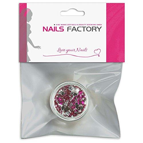 Strass coeur Rose Pop de pierres de strass avec décoration en cristal Rhinestones Nail Art