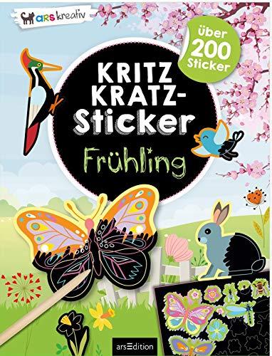 Kritzkratz-Sticker Frühling: über 200 Sticker