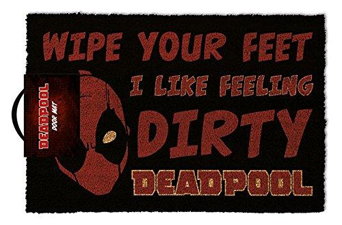 empireposter Deadpool - Dirty - Fußmatte, Größe: 60 x 40 cm, Material Polypropylen