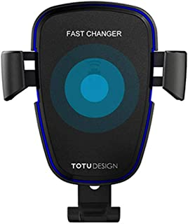 TOTU Wit Series Car Air Vent Mount Holder Bracket Wireless Charger Transmitter - Black