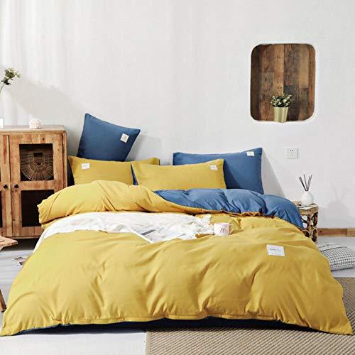 Home Textiles - Juego de ropa de cama de invierno (3 – 4 piezas, funda de edredón y sábana encimera + funda de almohada + ropa de cama